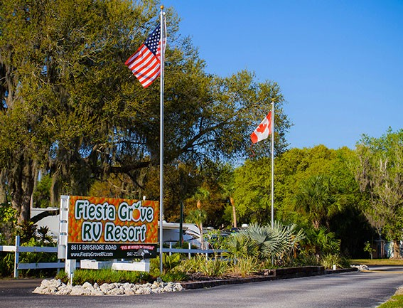 Fiesta Grove RV Resort Welcome