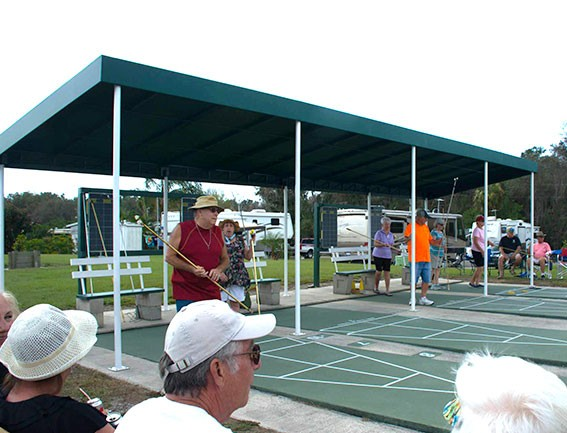 Mobile Home Park Shuffleboard Courts